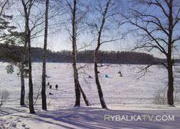 Зимняя рыбалка на Истринском водохранилище. Пятницкий плес