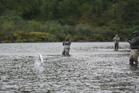 Ловля чавычи на Камчатке. Часть 1