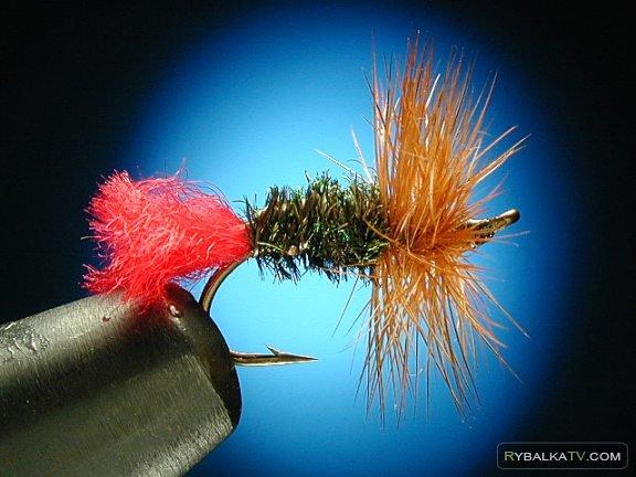 Вязание мушки Reg tag