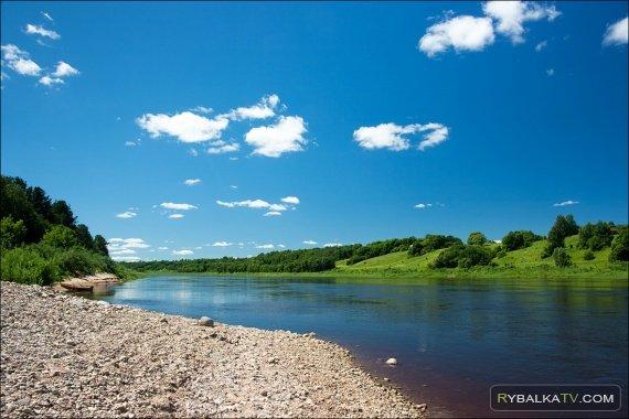 Ловля плотвы на реке Даугава