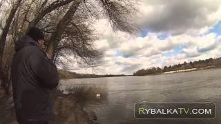 Ранняя весна на реке Десна. На рыбалке в марте 2015